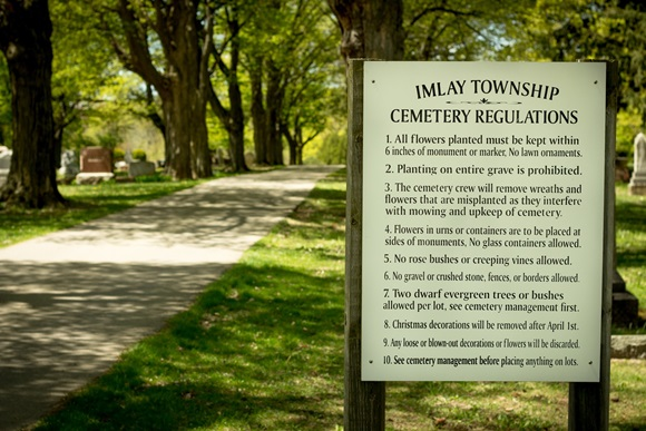 Imlay Township Cemetery Regulations